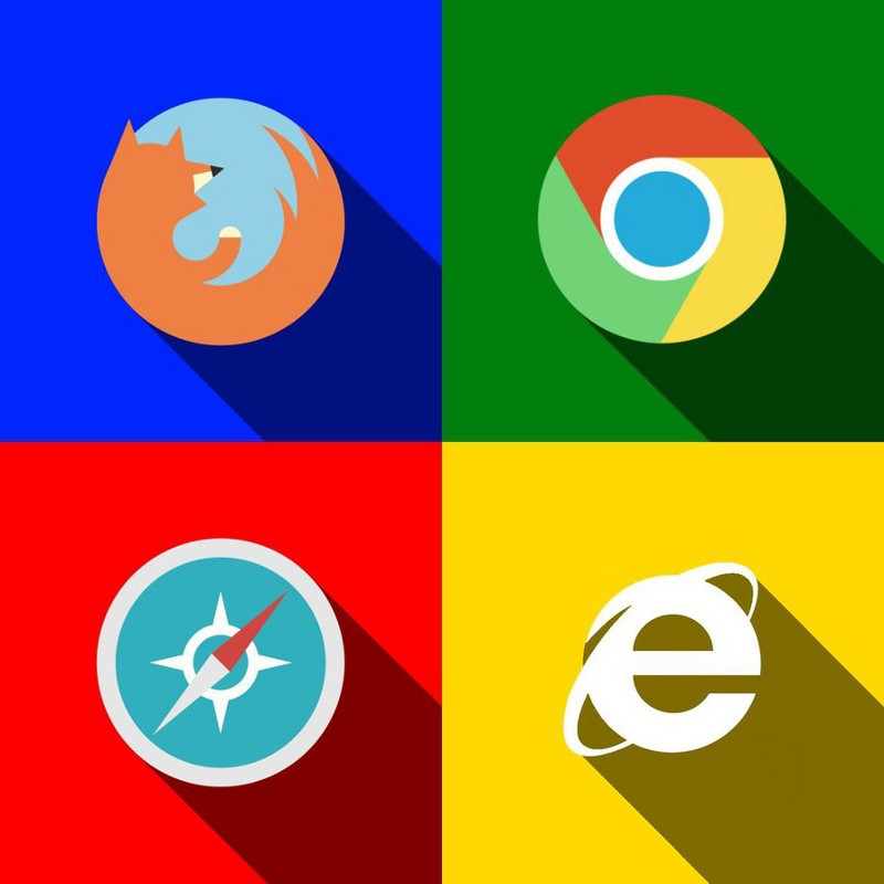 different browser icons